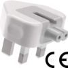 UK 3 Pin Power Plug Duckhead 10 W and 12 W power supply for All Types of Macbook Power Charger 10W and 12W USB-C Power Adapters, MagSafe and MagSafe 2 Power Adapters